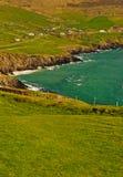 峭壁幽谷爱尔兰半岛 免版税库存图片