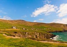 峭壁幽谷爱尔兰半岛 库存图片
