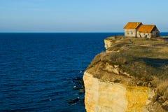 峭壁房子 免版税库存图片