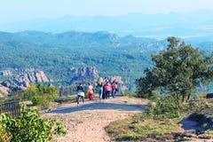 峭壁晃动全景,贝洛格拉奇克,保加利亚 免版税库存图片