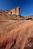 峭壁横向砂岩冬天 免版税图库摄影