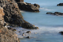 峭壁步行纽波特,罗德岛州 库存图片
