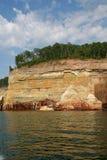 峭壁沿海森林 库存图片