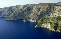 峭壁海岛zakynthos 库存照片