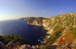 峭壁海岛zakynthos 图库摄影