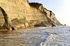 峭壁海岸希腊 库存照片