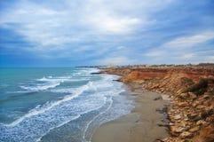 峭壁海岸线 免版税库存图片