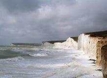 峭壁海岸英语苏克塞斯 免版税库存图片