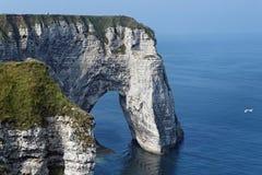 峭壁海岸诺曼底 库存照片