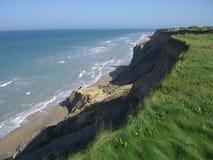 峭壁海洋俯视 库存照片