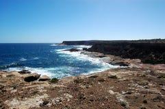 峭壁海洋 库存图片