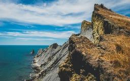 峭壁海角Kindnappers, Hawkeys海湾 库存图片