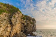 峭壁海 库存照片