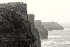 峭壁爱尔兰人透视图 免版税库存图片
