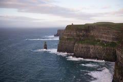 峭壁爱尔兰moher 库存图片