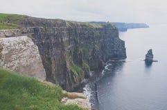 峭壁爱尔兰moher 库存照片
