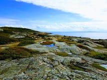 峭壁瑞典Westcoast, Tylösand 图库摄影