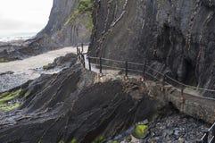 峭壁的步 免版税图库摄影
