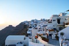 峭壁的白色房子 库存照片
