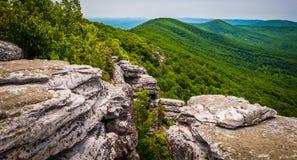从峭壁的看法在大Schloss,在乔治・华盛顿全国F 免版税库存照片