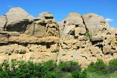 峭壁砂岩 免版税库存照片