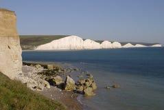 峭壁英国七个姐妹 免版税库存照片