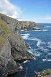 峭壁顶头爱尔兰mizen 免版税库存照片