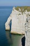 峭壁etretat著名法国 免版税库存照片