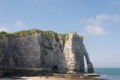 峭壁Etretat, Normandie Aval  免版税库存照片