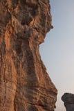 峭壁hin khao mo岩石纹理 免版税库存图片