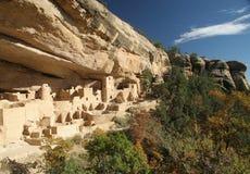 峭壁mesa宫殿verde 图库摄影