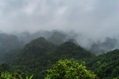 峰顶在猫Ba国家公园。 免版税库存图片