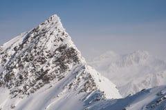 峰顶在阿尔卑斯 免版税库存图片