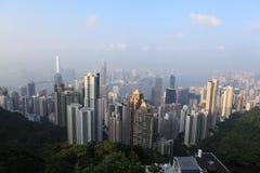 峰顶在香港 免版税库存照片