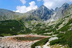 峰顶在高Tatras,斯洛伐克 免版税图库摄影