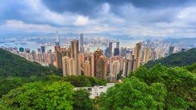 峰顶的香港都市风景高观点 股票视频