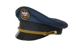 峰顶盖帽官员emercom 库存照片