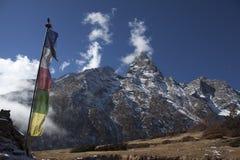 峰顶雪西藏 图库摄影