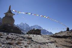 峰顶雪西藏 免版税库存照片
