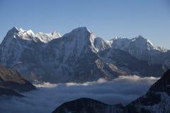 峰顶雪西藏 免版税库存图片