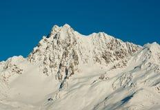 峰顶雪 库存照片