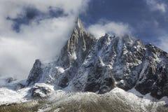 峰顶, Montenvers,夏慕尼,法国 图库摄影