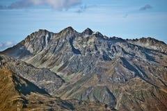 峰顶从Troumouse和芭布deBouc看见的Chanchou、Bastampe C 库存图片