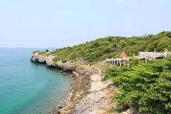崇公Kao Kad 酸值Sichang Sri张海岛, Chon Buri,泰国 库存照片