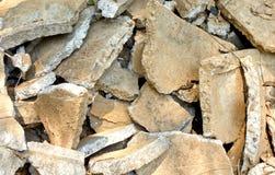 崩裂的水泥 库存照片