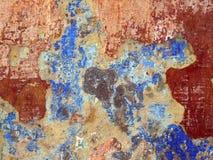 崩裂老油漆破旧的纹理墙壁 免版税库存照片