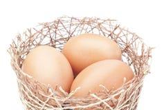 嵌套和一个组复活节彩蛋。 免版税库存图片