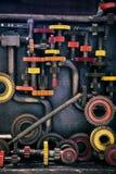 嵌齿轮和管子 库存照片