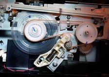 嵌齿轮和齿轮oprecise操作的在一个计算机控制的喷墨打印机 库存照片