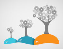 嵌齿轮树成长 免版税库存图片